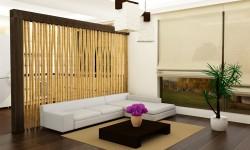 Pregradni zid od bambus