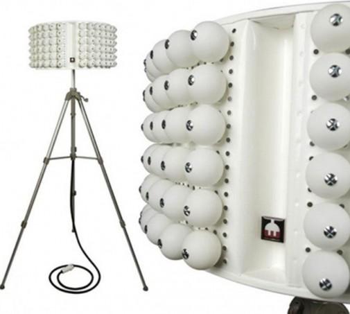 Bubanj lampa sa lopticama