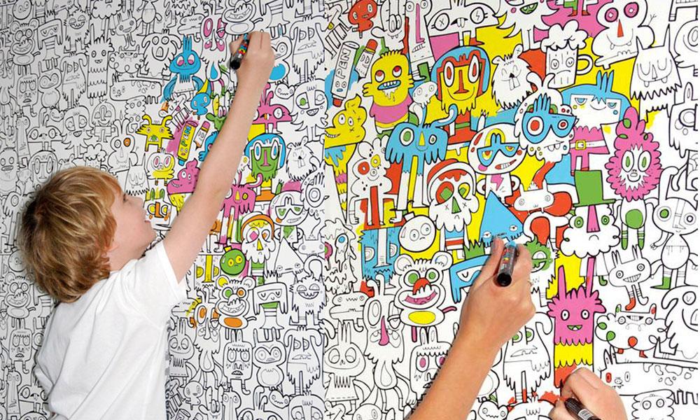 Kreativne tapete za dečju sobu