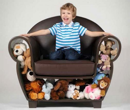 Kreativna fotelja za dečje igračke