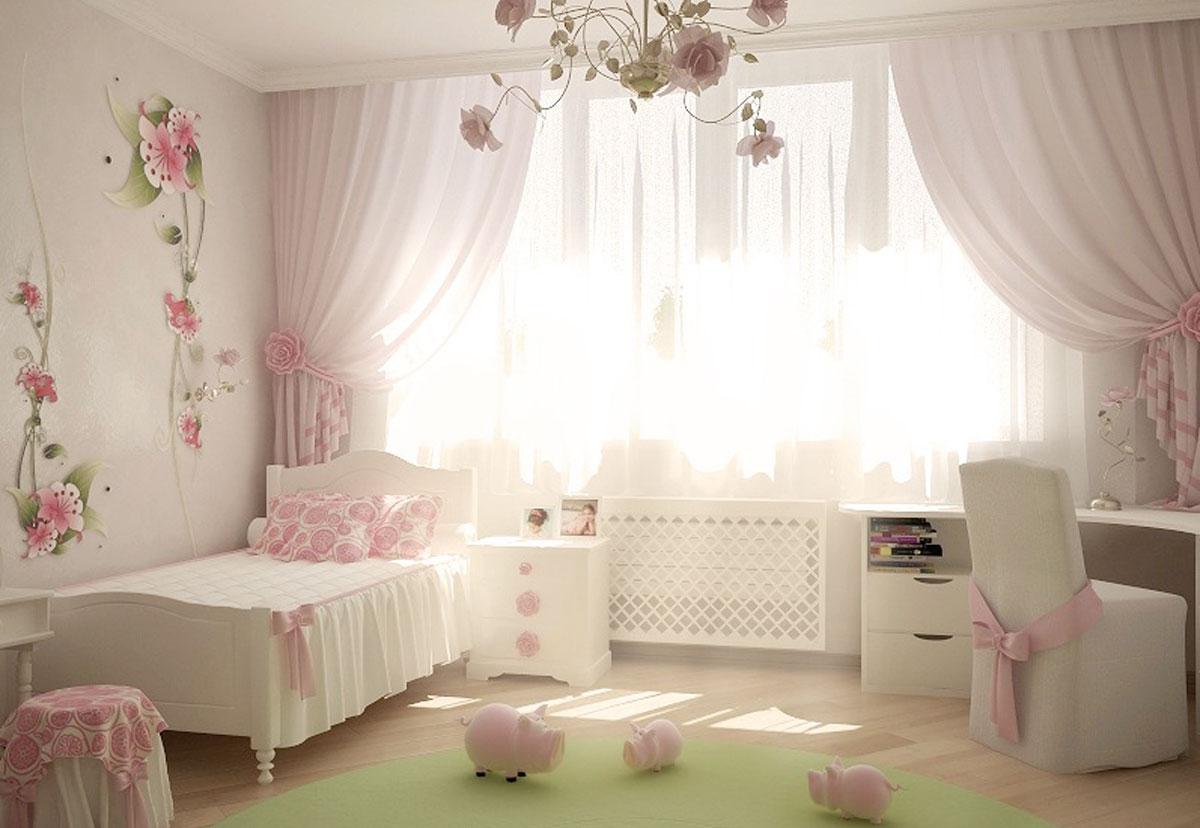 Дизайн детской в розовых тонах