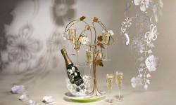 Ekstravagantan držač čaša za šampanjac