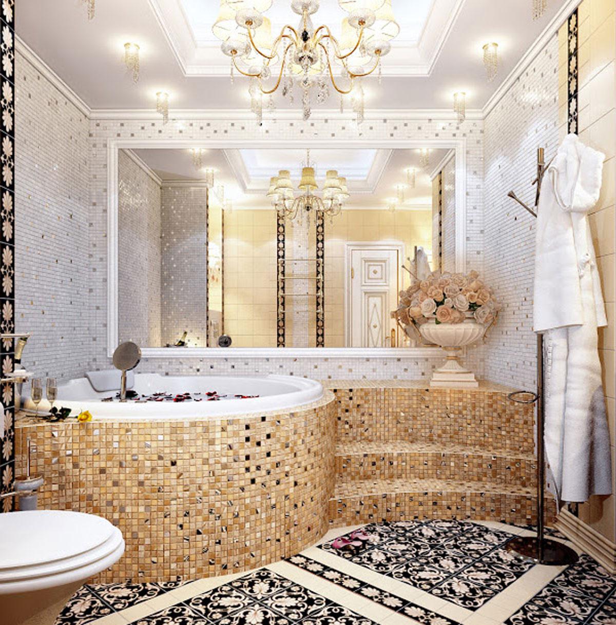 Ванная комната интерьер мозаика
