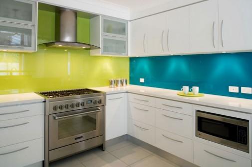 Plavo-zelena kuhinja