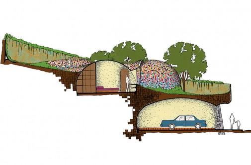 Poprečni presek nacrta kuće