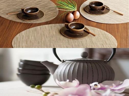 Japanska dekoracija stola