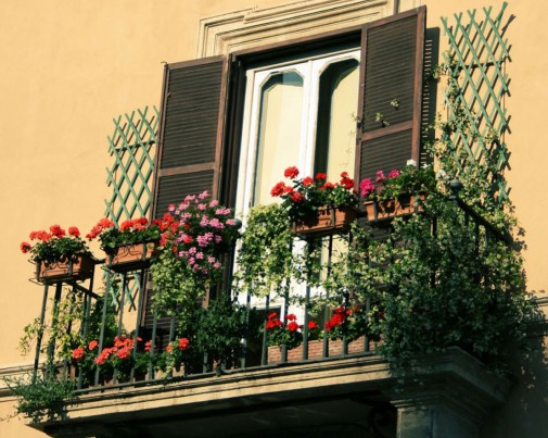 Cvetni terasni balkon