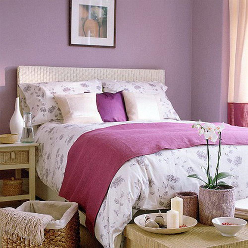 Ljubičasto-bela kombinacija boja za spavaću sobu   BravaCasa Magazin