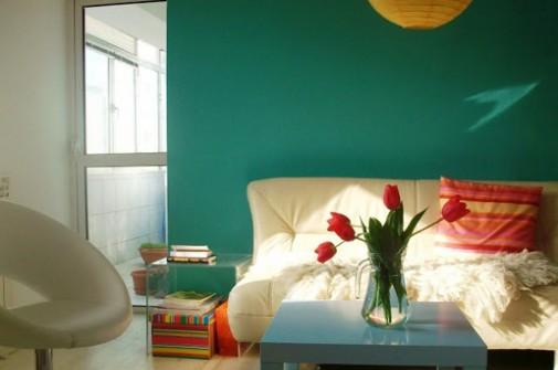 Nijanse tirkizne boje u spavaćoj sobi