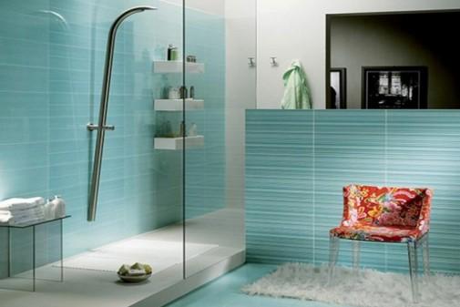 Tirkizna boja u kupatilu