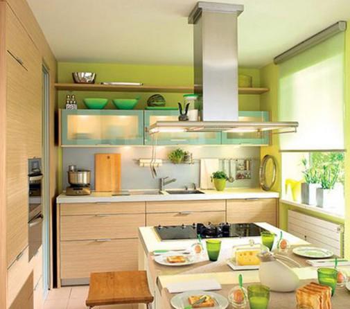 Unesite detalje u limeta boji u kuhinju