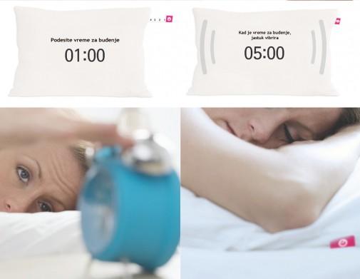 Vibrirajući jastuk sa alarmom