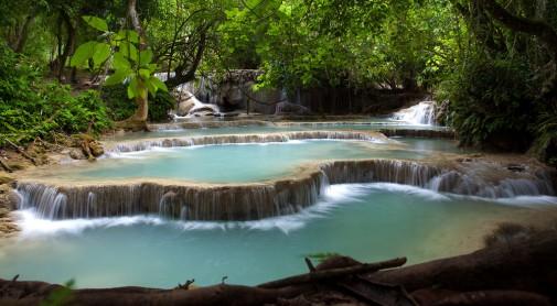 Vodopadi Kuang Si, Laos
