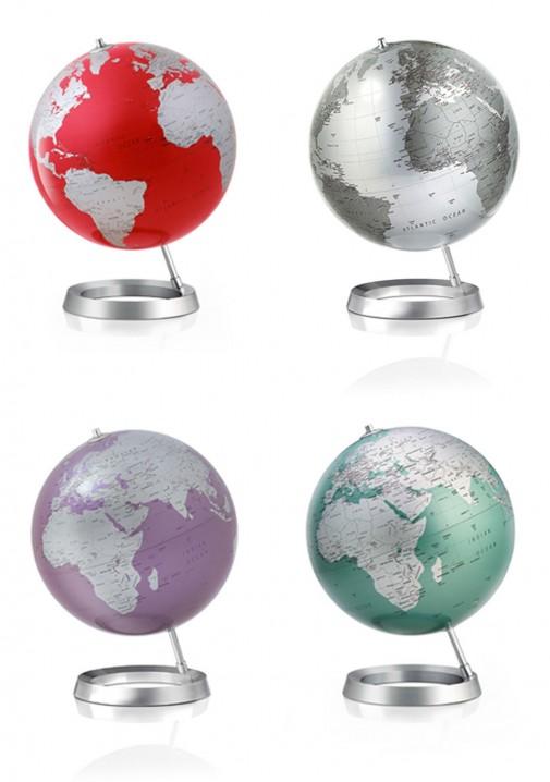 Globus lampa u više boja