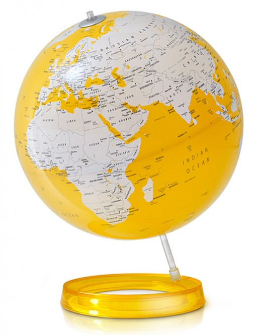 Globus lampa u žutoj boji