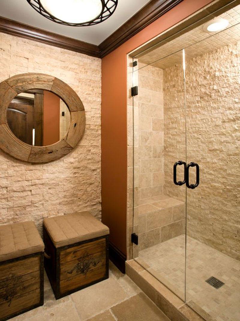 Дизайн ванной камнем
