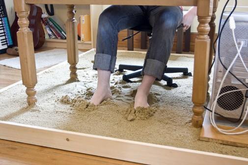 Kućna kancelarija pretvorena u plažu slika2