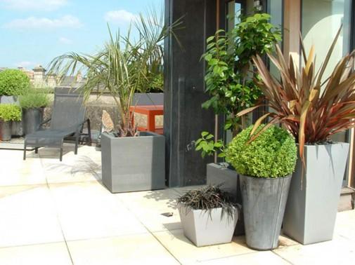 Moderno dizajnirana bašta