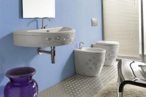 Moderno kupatilo sa kristalima