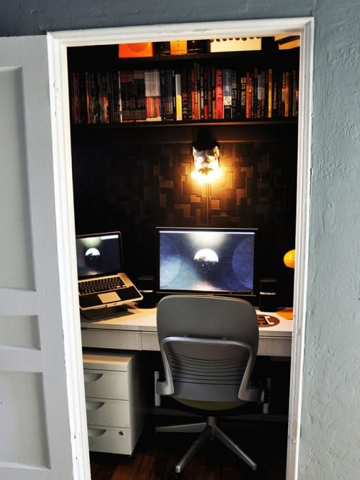 Ormar pretvoren u kućnu kancelariju