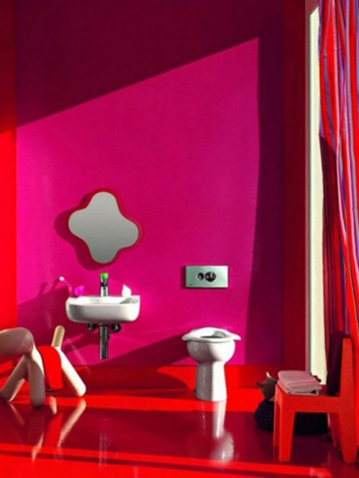 Pink dečje kupatilo