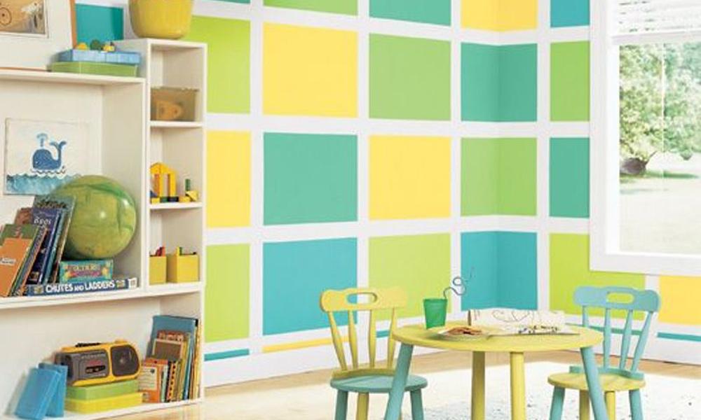 Šareni zidovi u dečijoj sobi