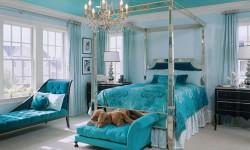 Tirkizna spavaća soba