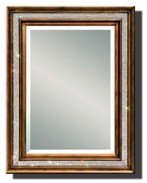 Swarovski ogledalo sa drvenim ramom