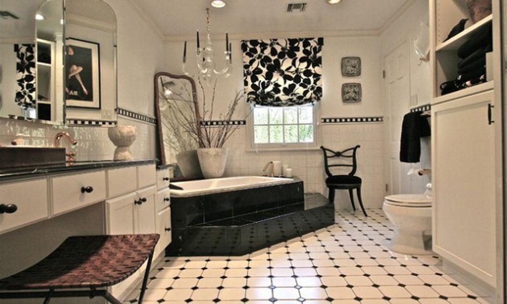 Crno-belo kupatilo