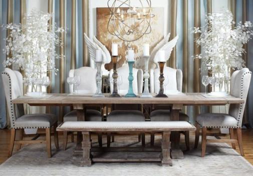 Elegantna bela trpezarija