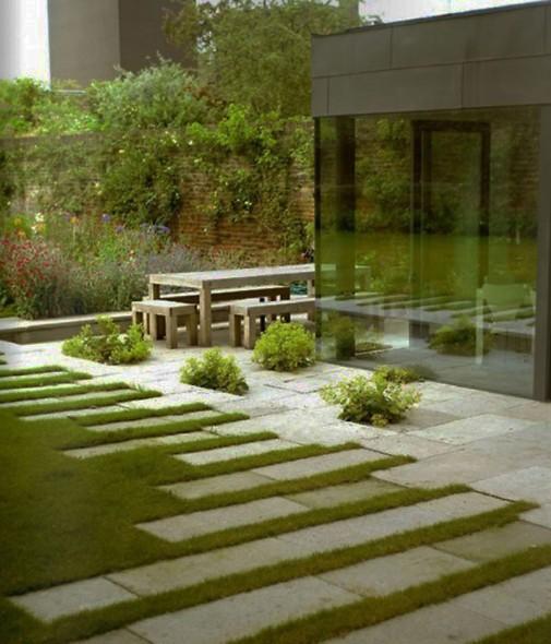 Moderno uređjeno dvorište