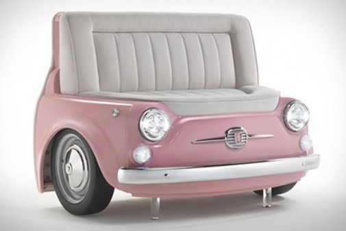 Roze sofa