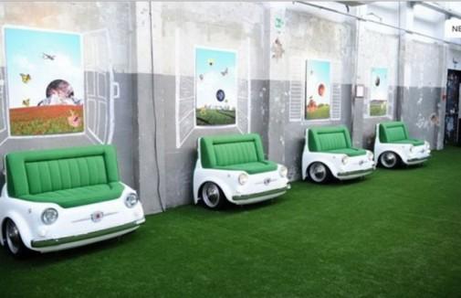 Zelene Fiat sofe