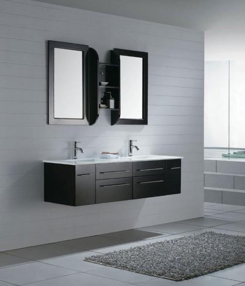 Crn kupatilski nameštaj