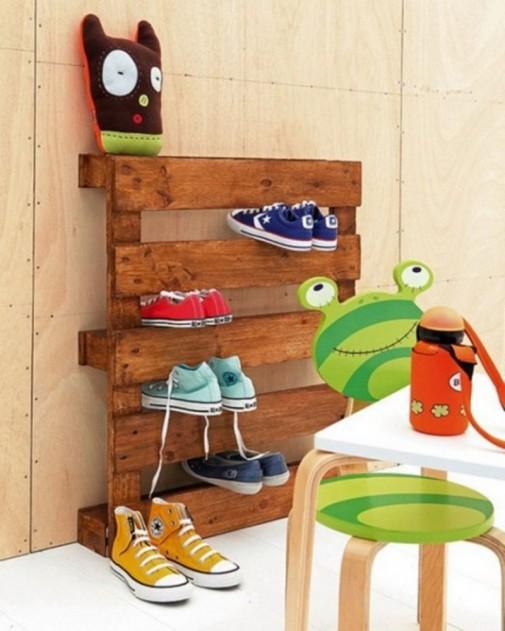 Drvena paleta za obuću