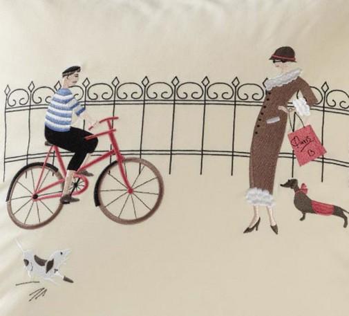 Jastuci sa vezenim motivima Pariza slika2