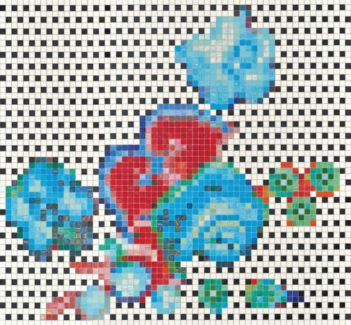 Kolekcija pločica cvetnih dezena