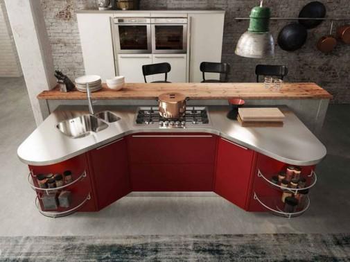Kuhinja u crvenoj boji