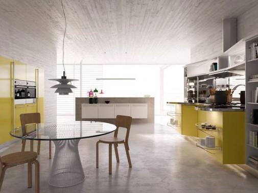 Kuhinja u žutoj boji