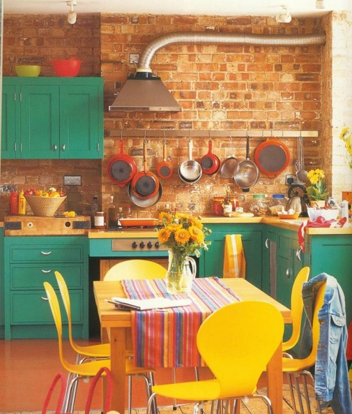 Retro šarena kuhinja