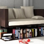 Sofa i polica za knjige