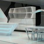 Nesvakidašnja kuhinja futurističkog dizajna