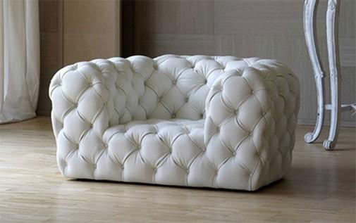 Bela fotelja