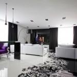 Luksuzni crno-beli stan