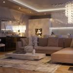 Moderna dnevna soba u luksuznom stilu