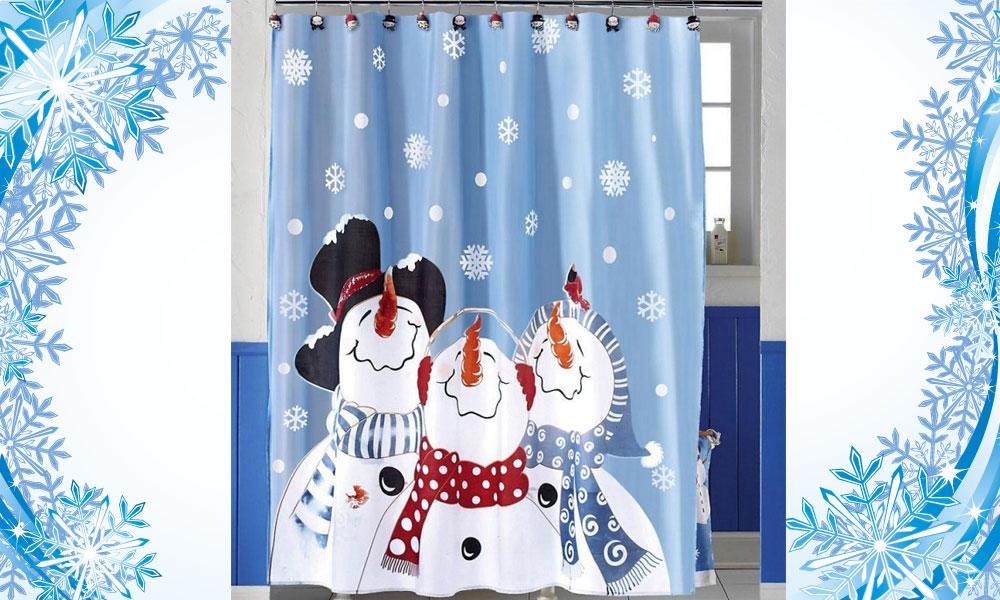 Novogodišnje zavese za kupatilo