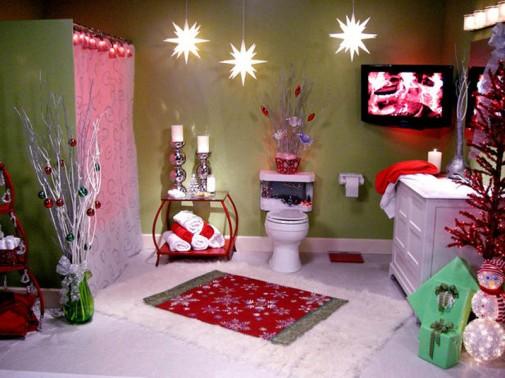 Novogodišnje dekoracije u kupatilo