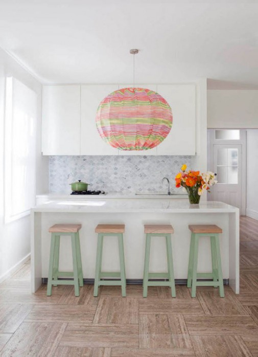 Pastelne boje u kuhinji