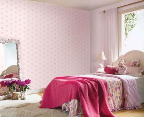 Roze tapete