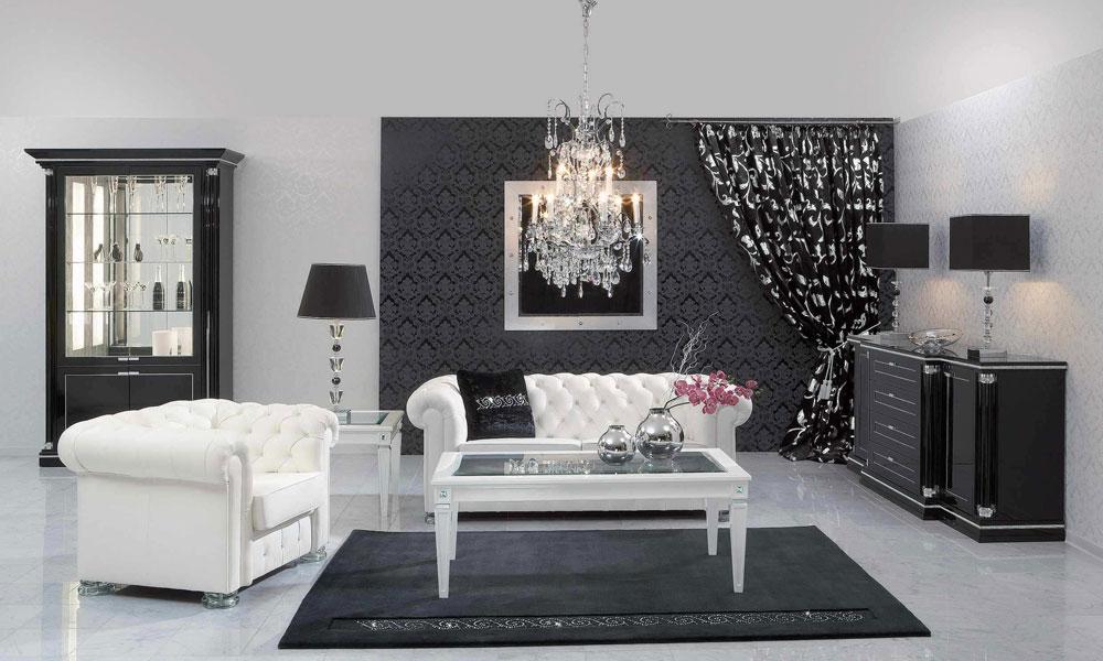 Crno-bele dnevne sobe